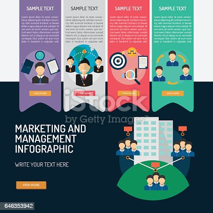 Infographic Marketing and Management
