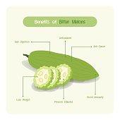 istock Infographic of bitter melon benefits 637572646