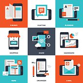 Infographic of various mobile applications