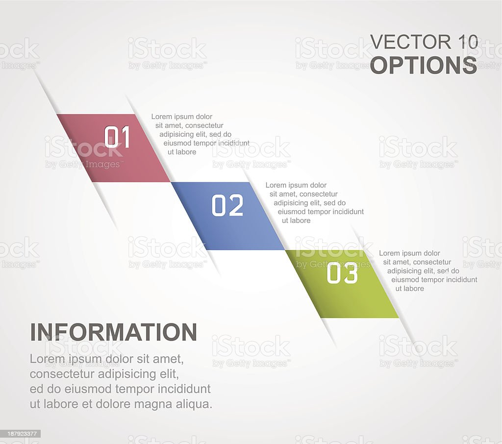 Infographic options banner royalty-free stock vector art
