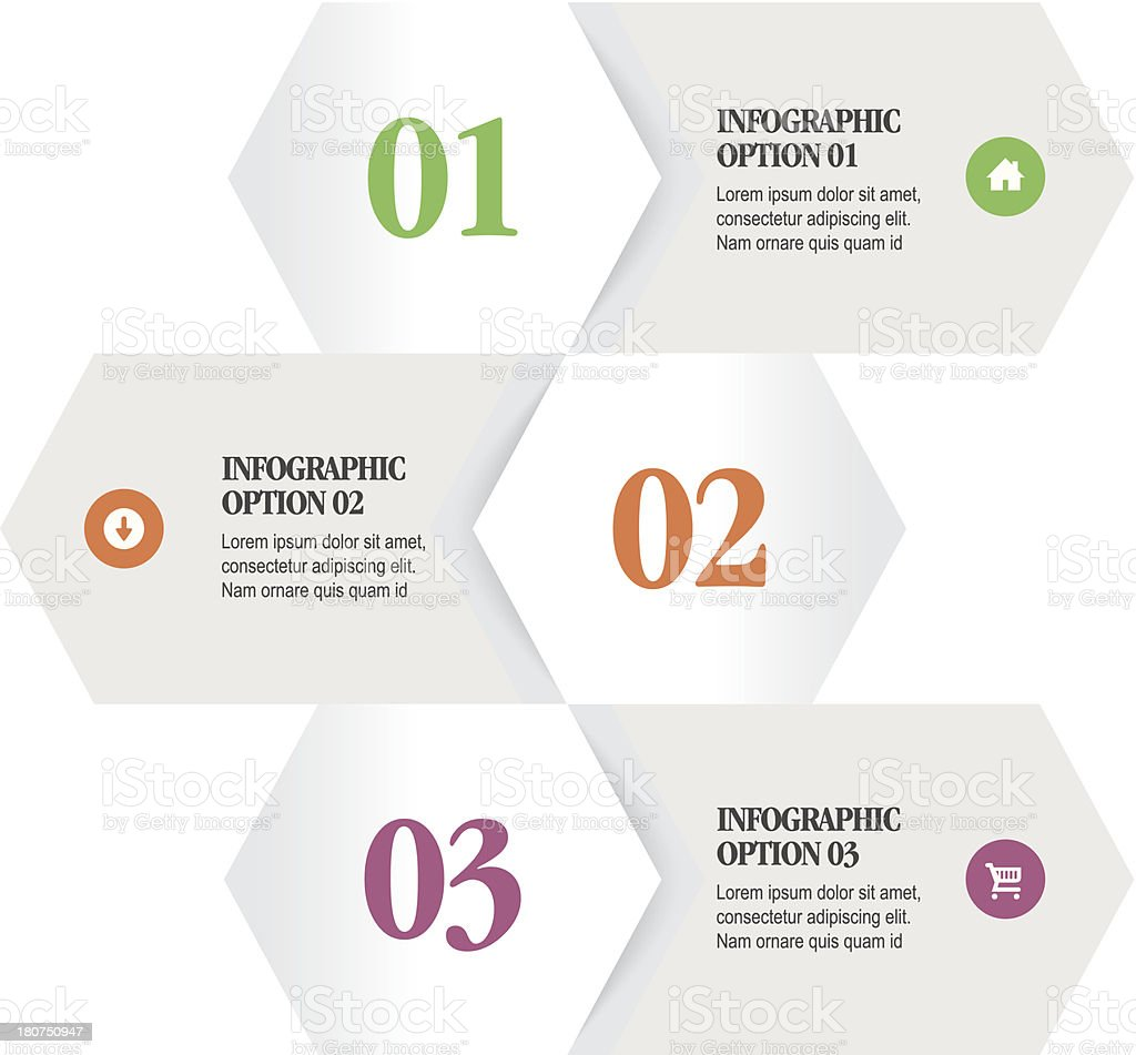 Infographic Options royalty-free stock vector art