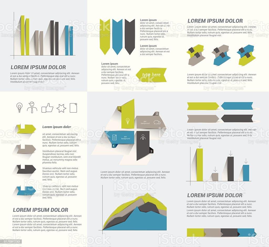 Infographie page de modèle.  Vecteur éléments. - Illustration vectorielle