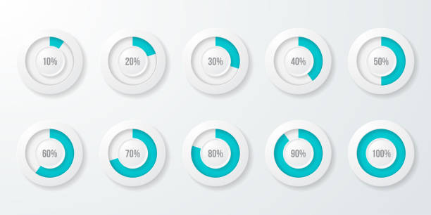 infographic pie chart templates. can be used for chart, graph, data visualization, web design. - pie chart stock illustrations, clip art, cartoons, & icons