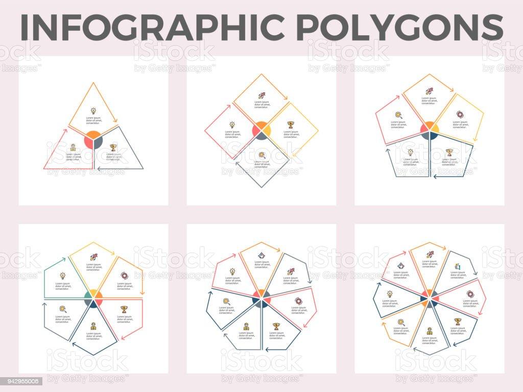Infographic Polygons Triangle Square Pentagon Hexagon
