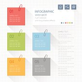 Infographic - post it notes