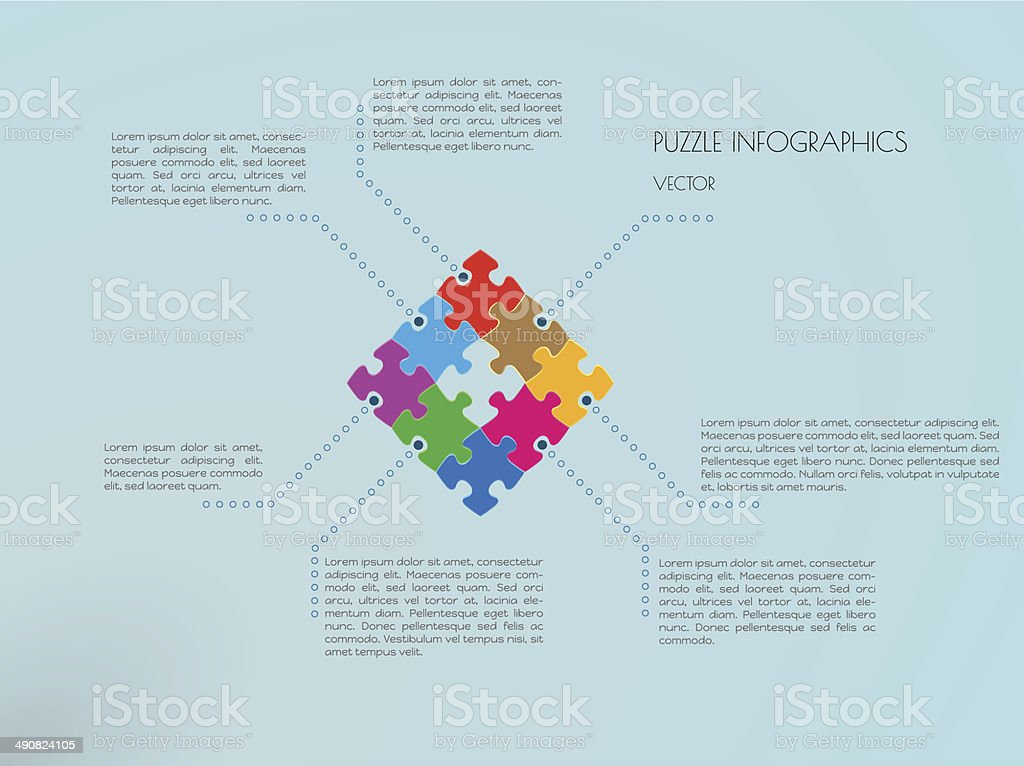 infographic puzzle vector royalty-free infographic puzzle vector stock vector art & more images of abstract