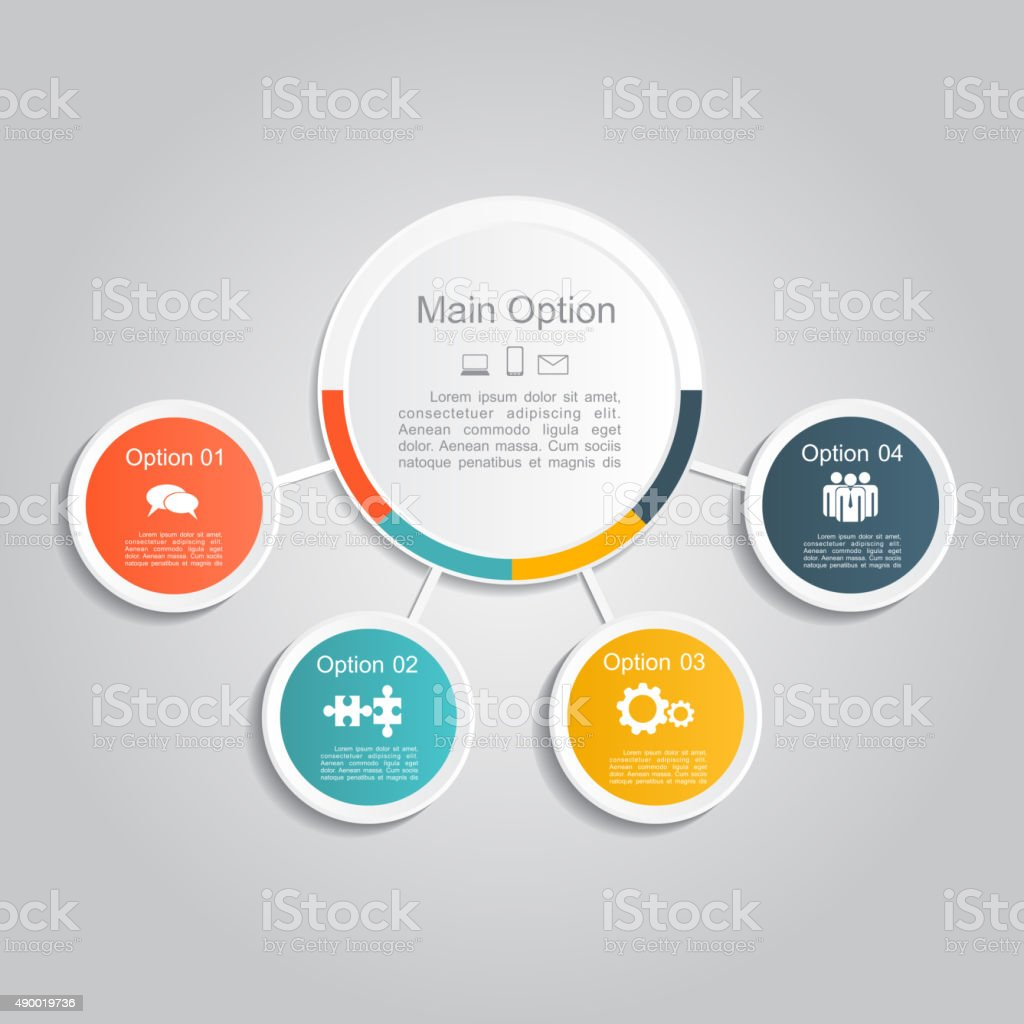 Infographic report template layout. Vector illustration vector art illustration