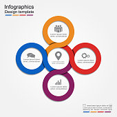 Infographic report template. Vector illustration
