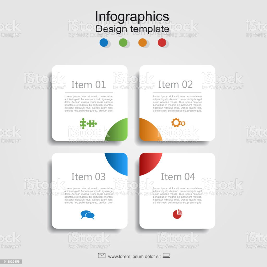 Infographic report template with place for data. Vector illustration. vector art illustration