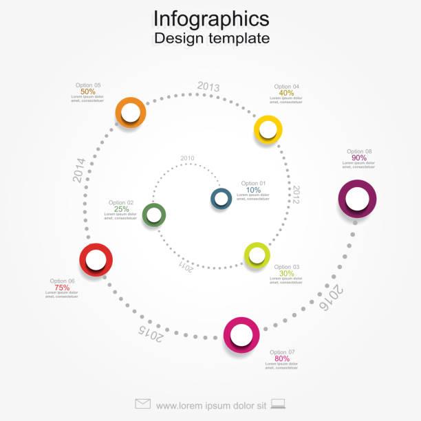 grafika informacyjna wzór raportu z miejscem na twój tekst. wektor - zwinięty aranżacja stock illustrations