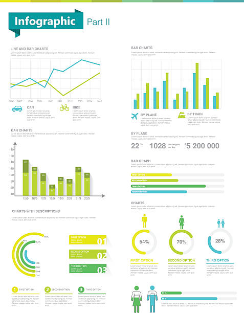 infographic set.  information graphics and charts - demographics infographics stock illustrations, clip art, cartoons, & icons