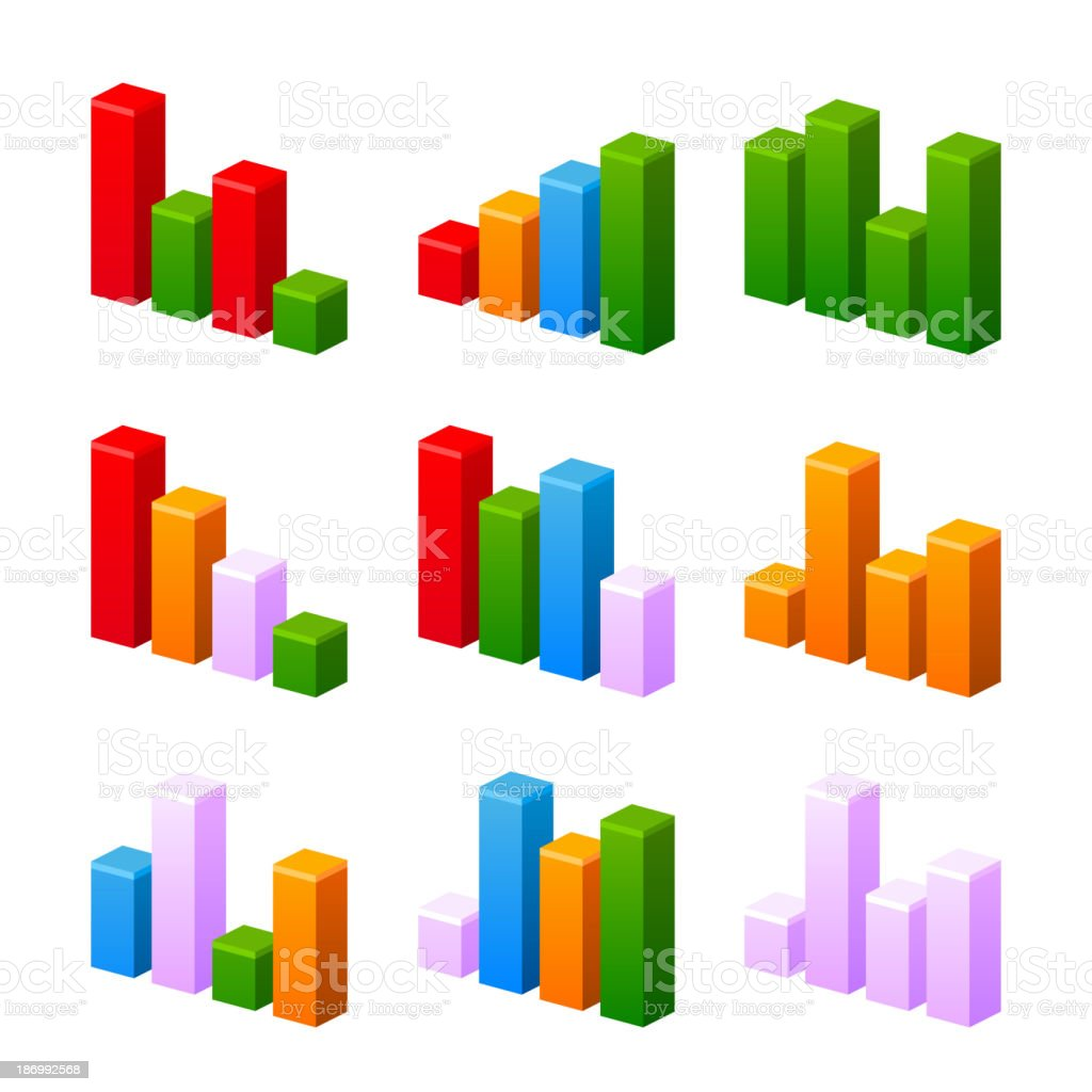 Infographic Set With Colorful Charts Stock Illustration   Download Image Now