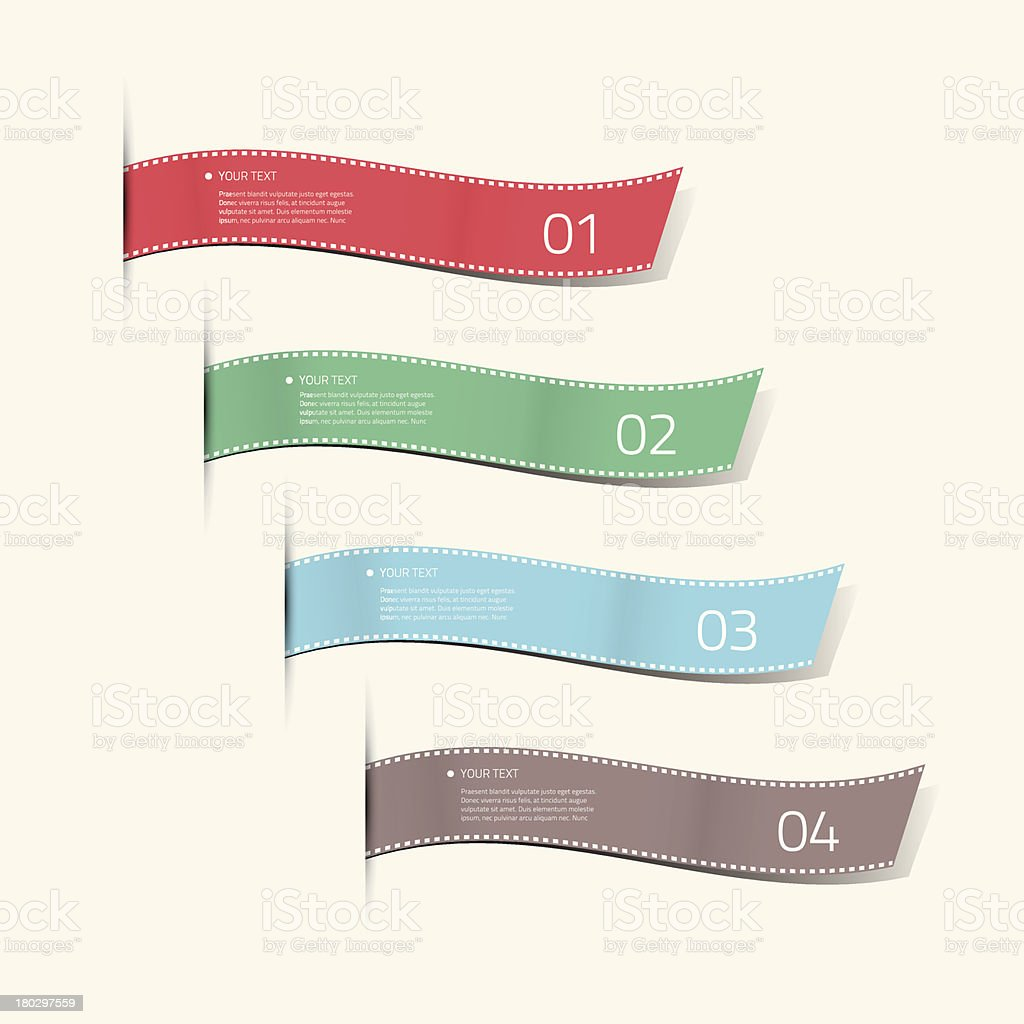 Infographic silk labels decorative vector royalty-free stock vector art