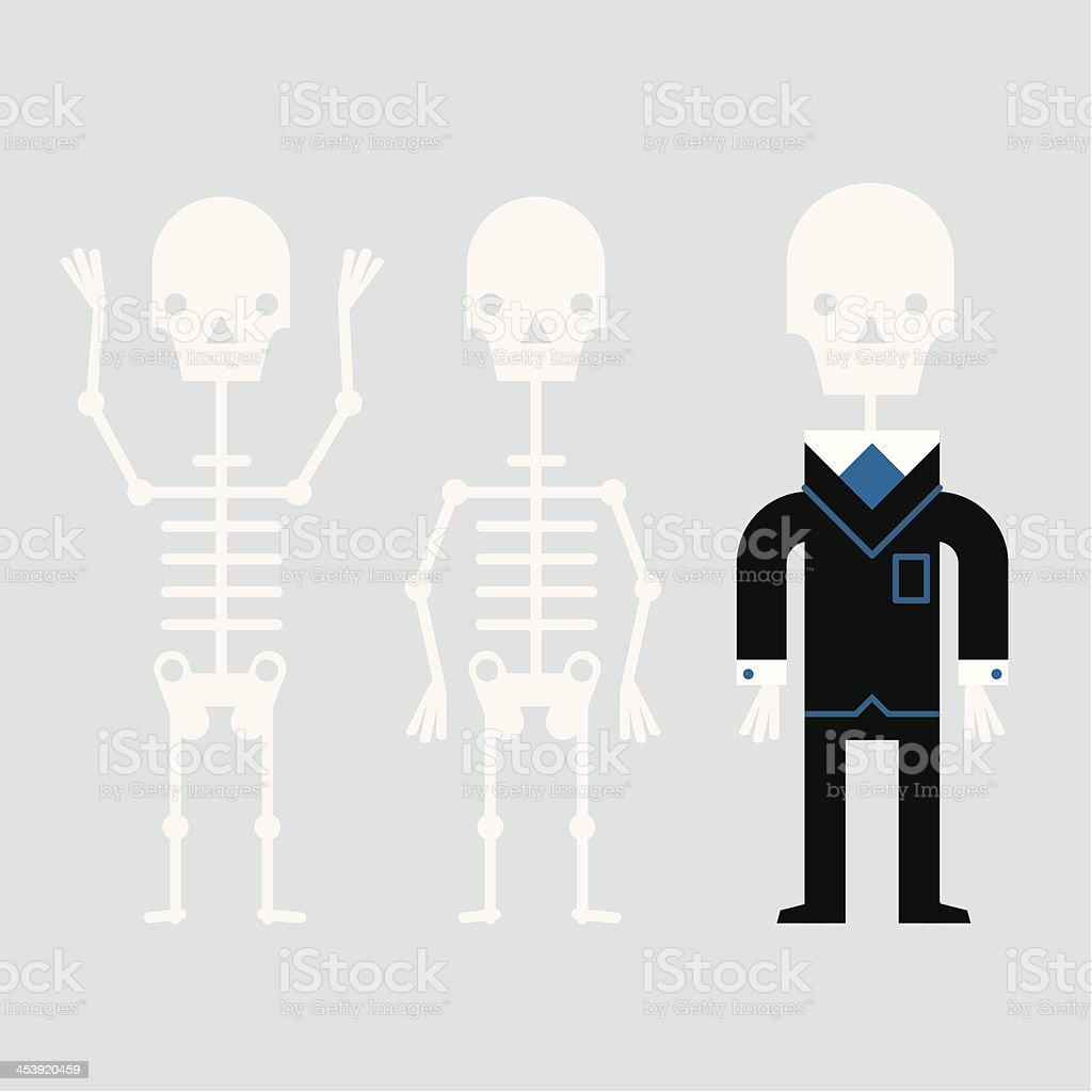 InfoGraphic Skeleton Staff royalty-free stock vector art