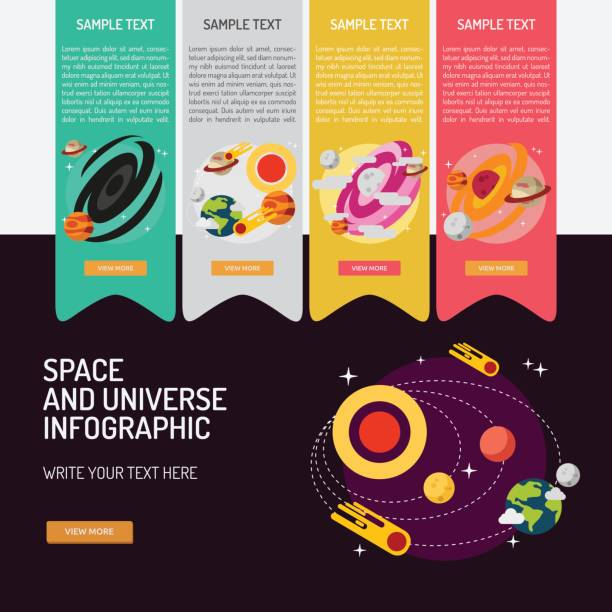 Infographic Space and Universe vector art illustration