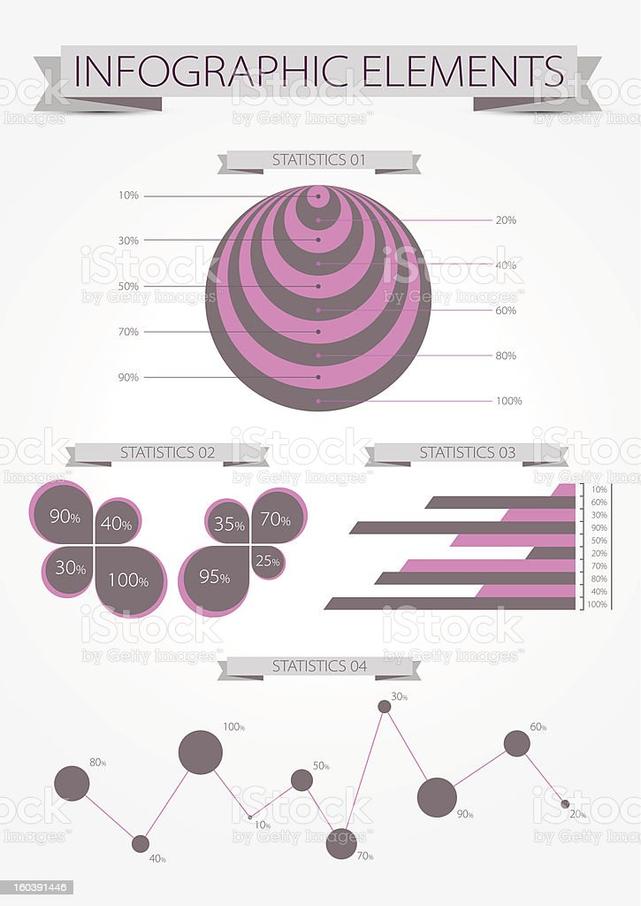Infographic statistic element royalty-free stock vector art
