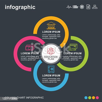 infographic, icon, business, step, timeline