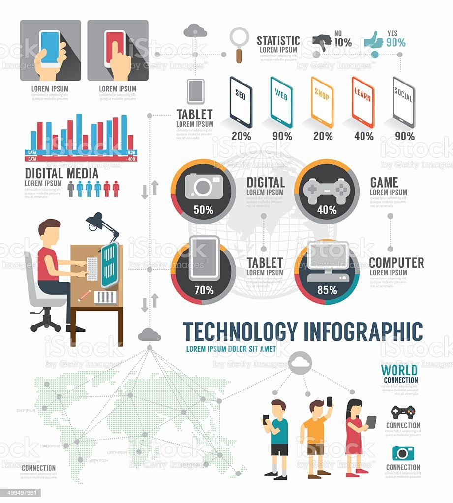 Infographic Technology digital template design . concept vector vector art illustration