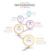 Infographic template for business. 5 Steps Modern Timeline diagram, presentation vector infographic.