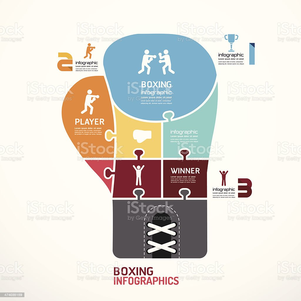 infographic Template boxing jigsaw banner . royalty-free infographic template boxing jigsaw banner stock vector art & more images of abstract