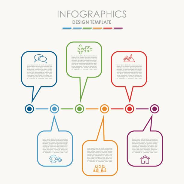 illustrations, cliparts, dessins animés et icônes de modèle de l'infographie. peut être utilisé pour la mise en page de flux de travail, diagramme, options étape affaires, bannière, conception de sites web. - nuage 6
