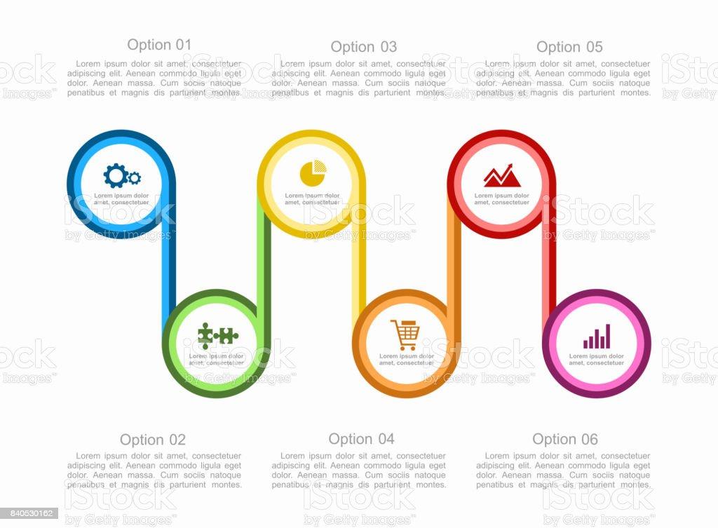 Infografikvorlage Einsetzbar Für Workflowlayout Diagramm Schritt ...