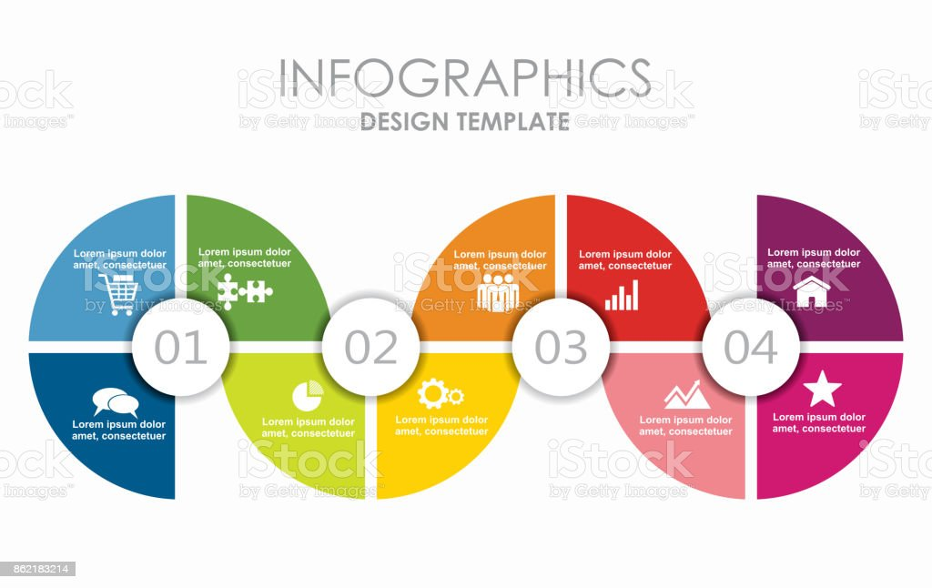 Infographic template. Can be used for workflow layout, diagram, business step options, banner, web design. vector art illustration