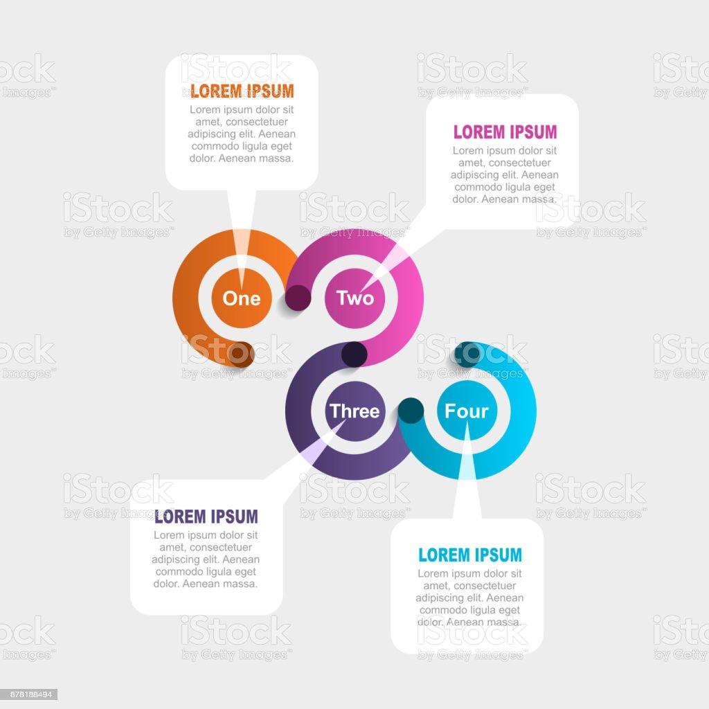 インフォ グラフィック テンプレートワークフローのレイアウト図ビジネス