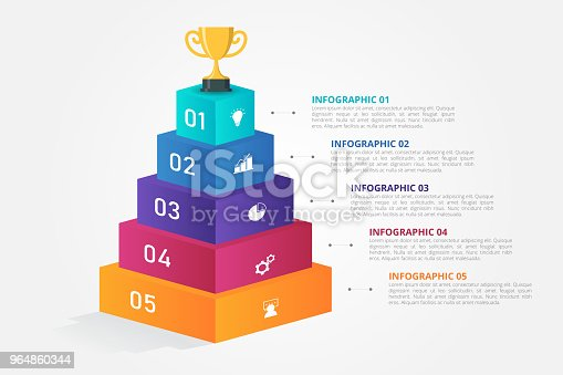 Infographic Template For Business Education Web Design Banners Brochures Flyers Diagram Workflow Timeline Stock Vector Art & More Images of Abstract 964860344