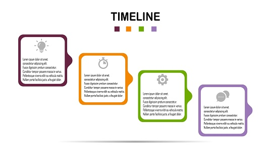 Infographic Template. Steps Options Elements Infographic Template for Website, UI Apps, Business Presentation.