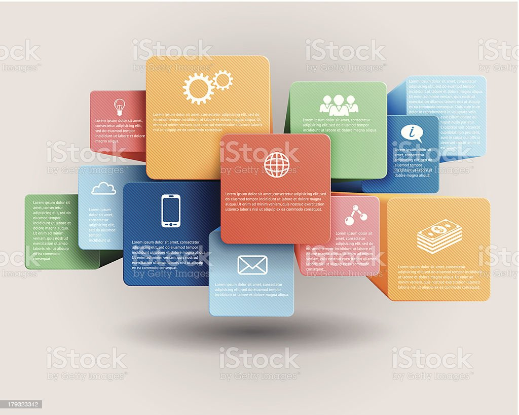 Infographic template vector art illustration