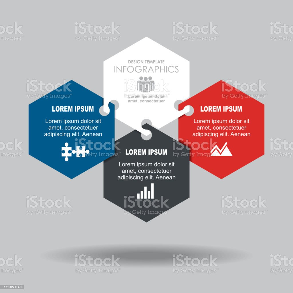 Infographic template. Vector illustration. Can be used for workflow layout, diagram, business step options, banner. – artystyczna grafika wektorowa