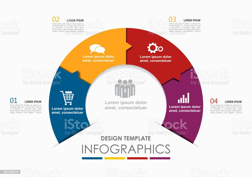 Infographic template. Vector illustration. Can be used for workflow layout, diagram, business step options, banner. vector art illustration