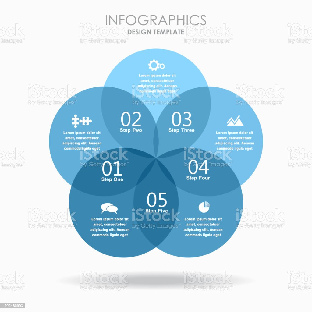 Infographic Template Vector Illustration Can Be Used For Workflow ...