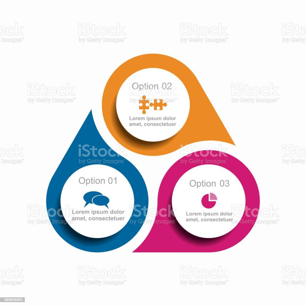 Plantilla de infografía. Ilustración de vector. Puede ser utilizado para diseño de flujo de trabajo, diagrama, negocios paso opciones, banners. - ilustración de arte vectorial