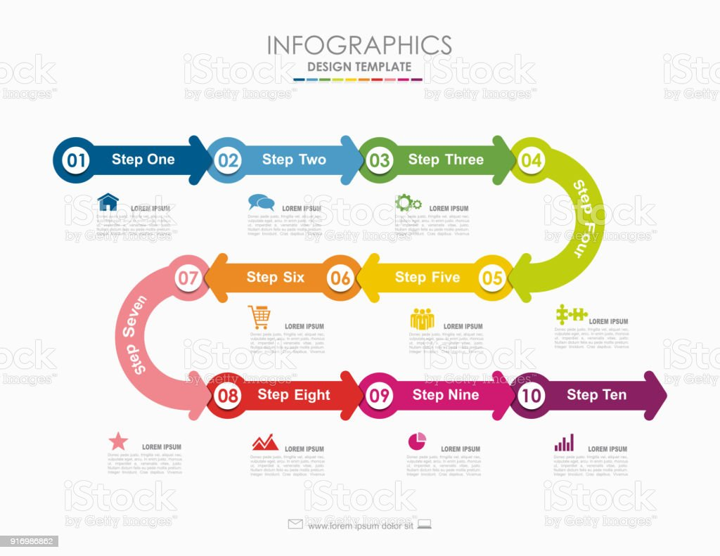 Infographic Template Vector Illustration Used For Workflow Layout ...