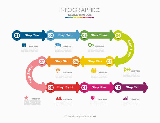 Infographic template. Vector illustration. Used for workflow layout, diagram, business step options, banner, web design. vector art illustration