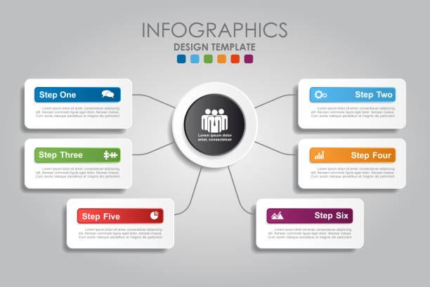 illustrations, cliparts, dessins animés et icônes de modèle de l'infographie. illustration vectorielle. - nuage 6