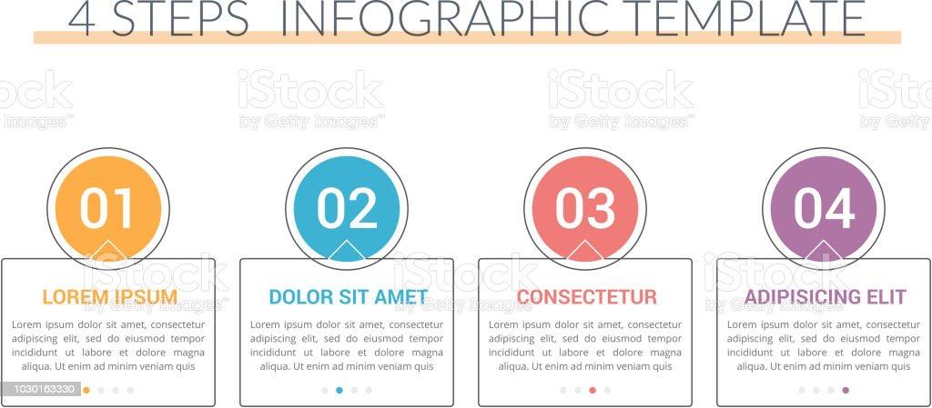 Infographic Template with 5 Steps – artystyczna grafika wektorowa