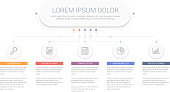 Infographic template with main title and 5 steps or options, workflow, process chart, vector eps10 illustration