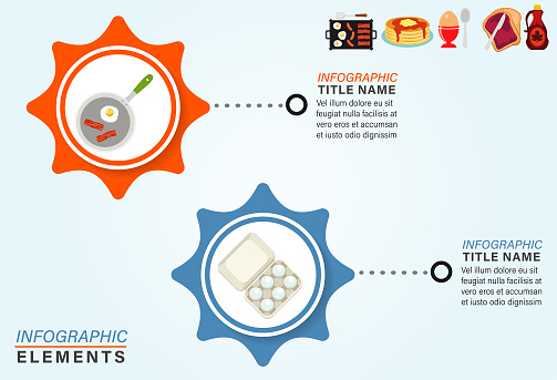 Infographic Template With Breakfast Icons