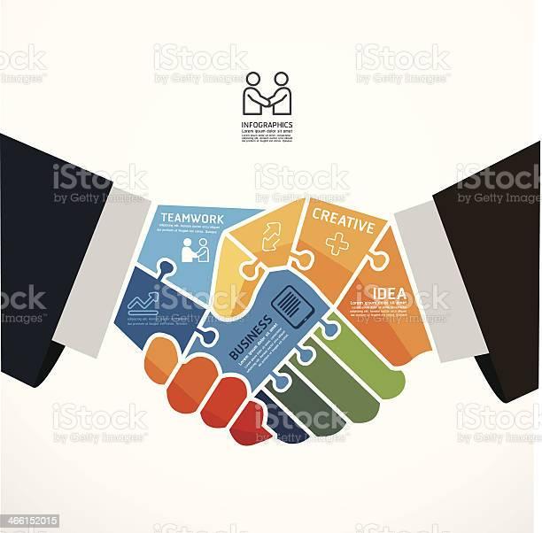 Infographic template with businessman handshake jigsaw banner vector id466152015?b=1&k=6&m=466152015&s=612x612&h=ugwv6yo8wmbqowshq5nd1wz9sr8 2v blczl7dw1eem=