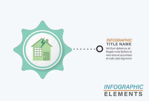 Infographic Template With Environment Icons