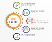 Infographic Template with Five Steps