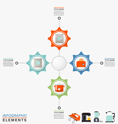 Infographic Template With HOme Appliance Icons