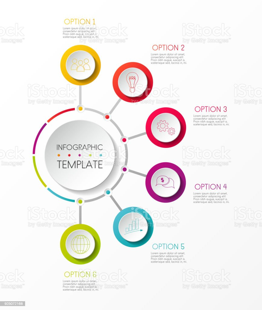 Infographic template with options and colorful icons. Vector. royalty-free infographic template with options and colorful icons vector stock illustration - download image now