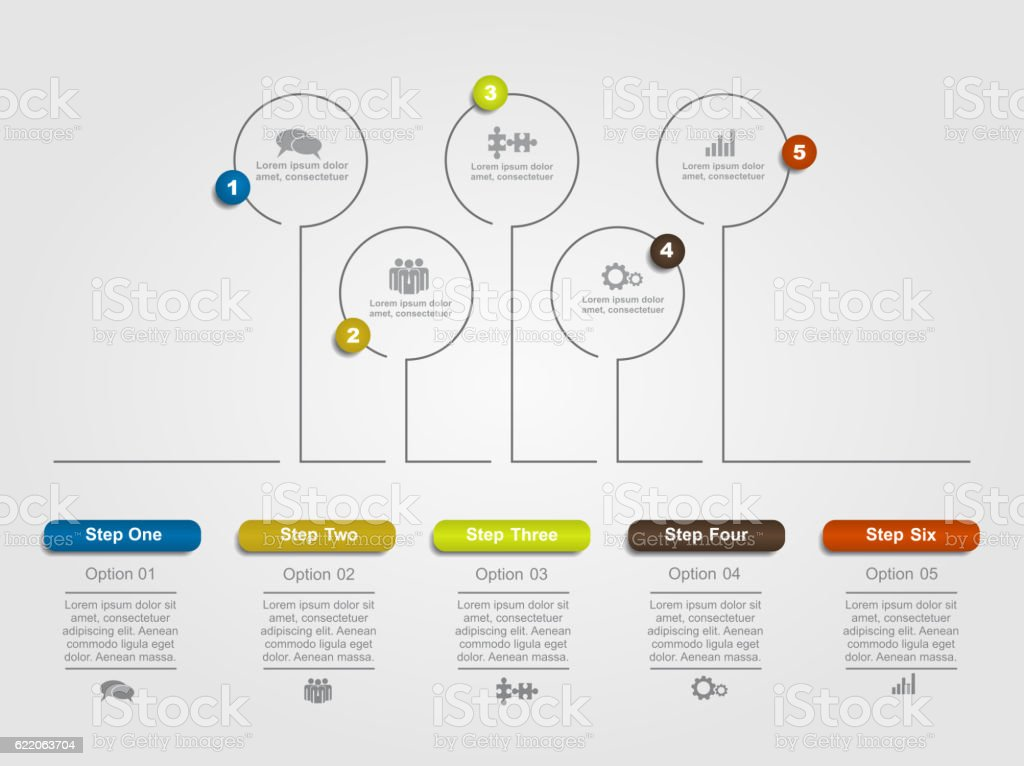 Infographic template with place for your data. Vector illustration. vector art illustration