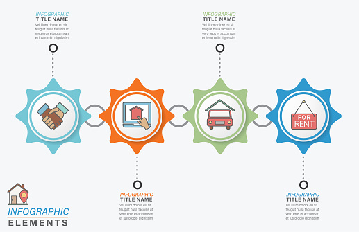 Infographic Template With Real Estate Icons