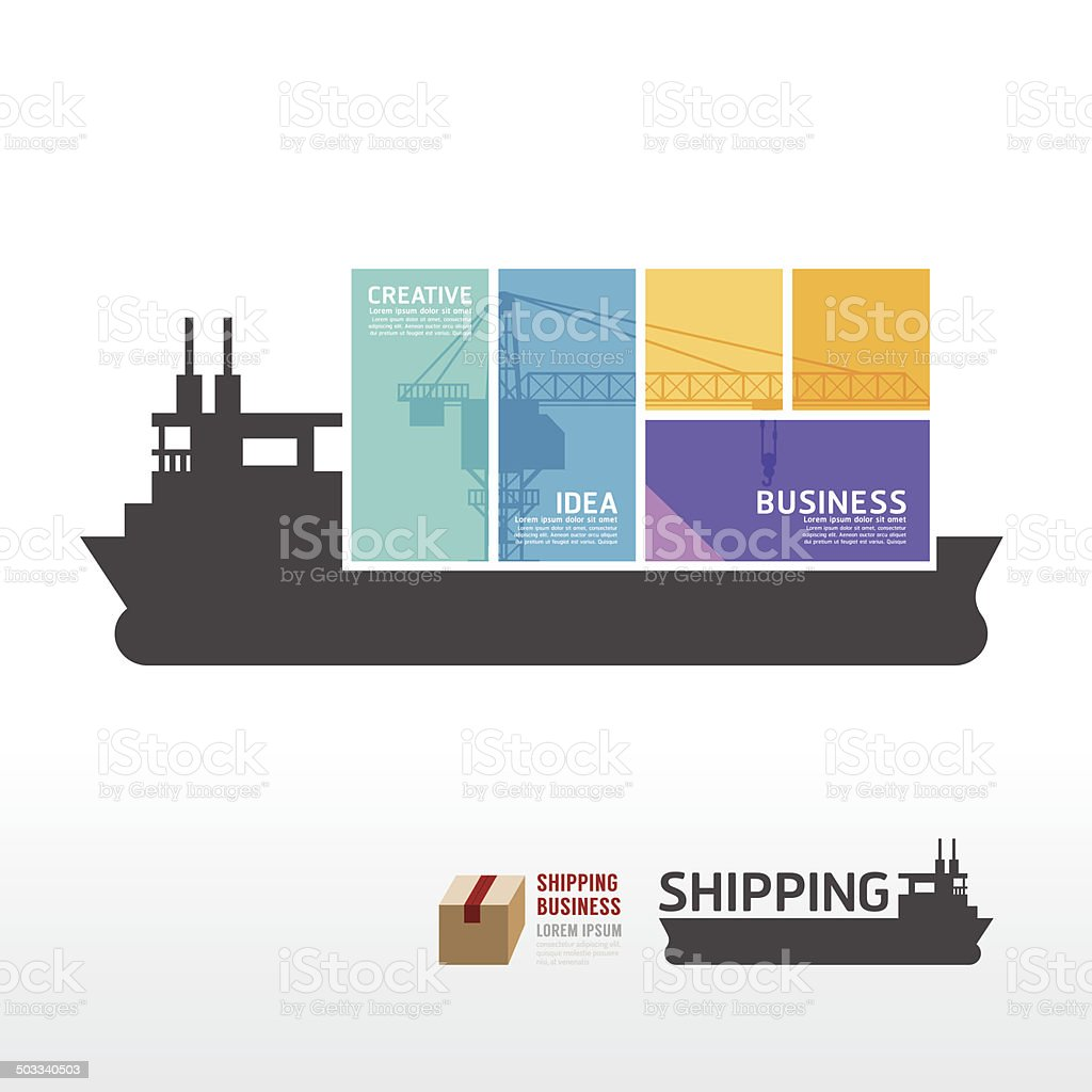 infographic Template with shipping boat banner . concept vector vector art illustration