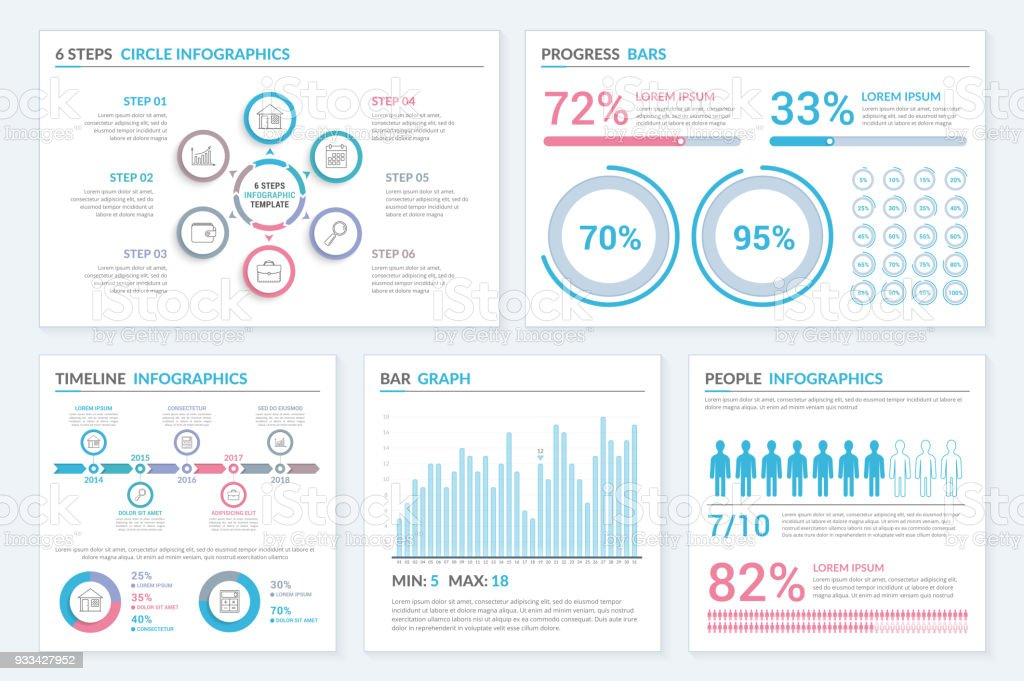 Infographic Templates vector art illustration